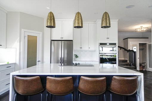 Kitchen, Bar Stools, Decor, Apartment