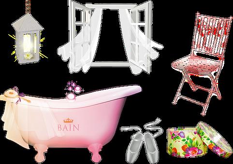 Bathroom, Bathtub, Window, Hat Box
