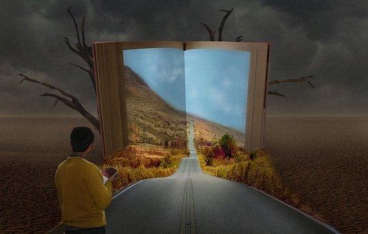 Book, Children, Father, Life, Fantasy
