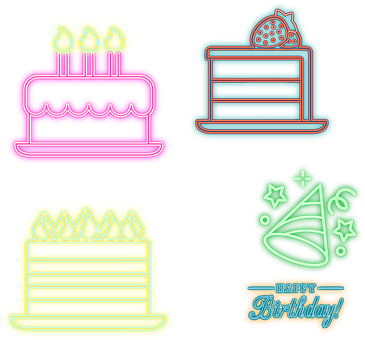 Neon Cakes, Sweets, Bakery, Shop