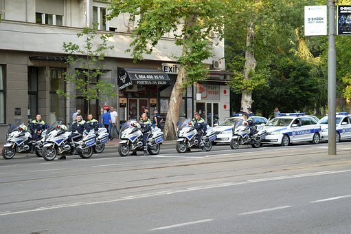 Police Cars, Police Motorcyclists