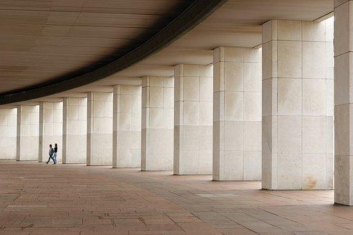 Columns, Couple, People, Architecture