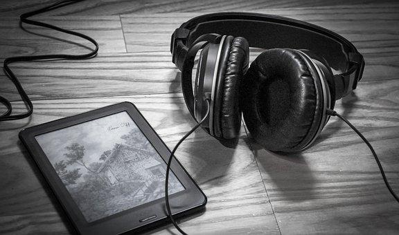 Ebook, Headphone, Relax, Leisure, Cozy