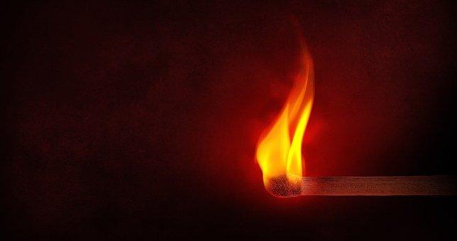 Flame, Matchstick, Light, Fire, Burning