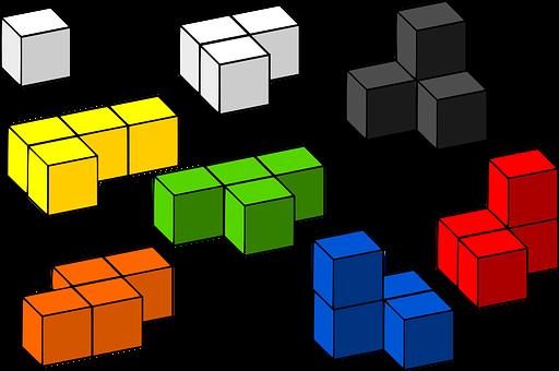 Building Blocks, Tetris, 3D, Blocks