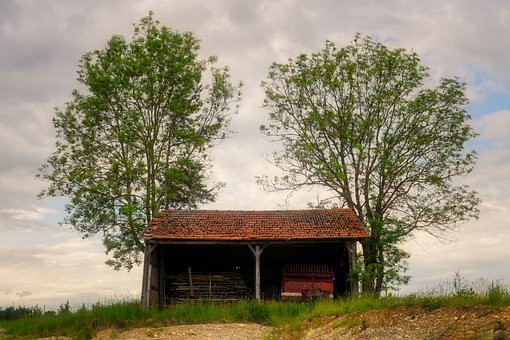 Hut, Barn, Scale, Devices, Rural