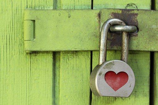 Lock, Padlock, Heart, Metal, Grunge