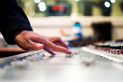 Mixing Desk, Slide Control, Slider