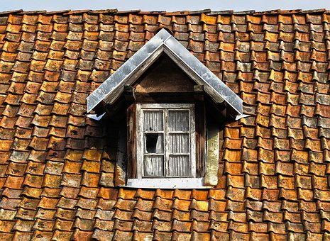 Roof, Tile, Wooden Windows, Roof Windows