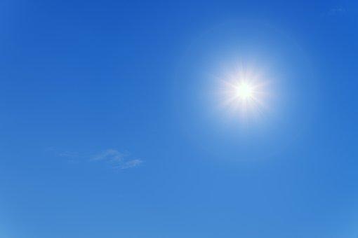 Sun, Summer, Blue, Sky, Partly Cloudy