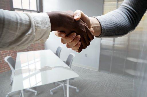 Job, Interview, Hiring, Hand, Shake