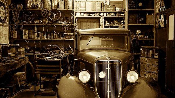 Auto, Car, Garage, Auto Shop, Vintage
