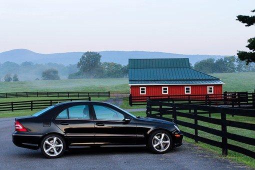 Automobile, Car, Barn, Farm, Ranch